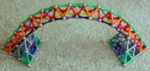 Magz construction toy arch bridge