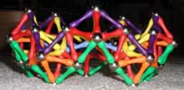 Side view of a crown built of Magz magnetic construction toys