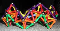 Another side view of a crown built of Magz magnetic construction toys
