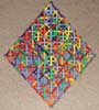 Edge view of a Sierpinski Tetrahedron (Serpinski triangle or Sierpinski triangle) built of Magz magnetic construction toys