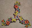 A triskelion arch made of Mags construction toys