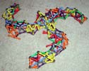 The triskelion arch made of Mags construction toys wrecks easily